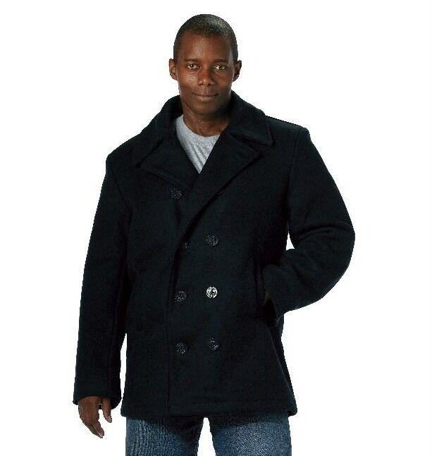 Wool Pea Coat Navy Blau U.S. Navy Style  7270 Rothco