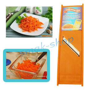 DURABLE PLASTIC GRATER KOREAN CARROT RUSSIAN MOLD SALAD + RECIPE IN ENGLISH