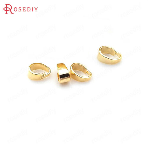 31723 20PCS 7.5x6MM Quality Gold Color Brass Charms Connector Pendants Clasps