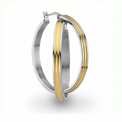 CEM Ohrschmuck Damen Creolen Edelstahl IOG gold bicolor ST5-134
