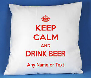 Keep-Calm-And-Drink-Beer-satin-luxe-housse-de-coussin-peut-etre-personnalisee