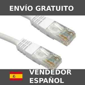 Cable-de-red-Ethernet-Blanco-o-Gris-Cat6e-RJ45-1-20m-1-40m-1-45m-1-5m-3m