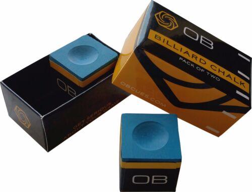 OB Performance Pool Cue Chalk 2 Pieces Per Box of Premium Chalk Blue