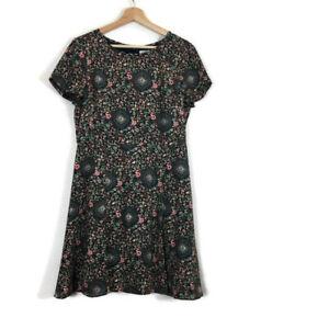 Crew Size S Printed Poplin Cami Dress Smokey Lilac Fern Print Tie Style J0979 J