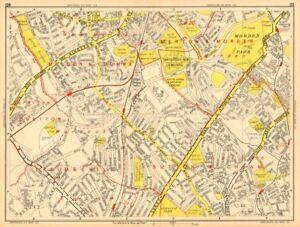 WORCESTER PARK Morden Sutton New Malden Ewell GEOGRAPHERS AZ 1948