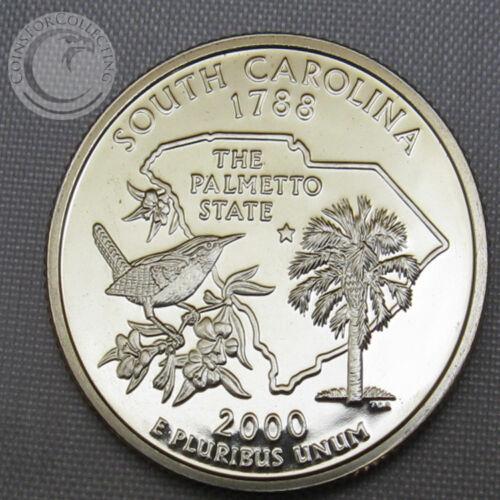 PROOF CAMEO GEM 2000-S BU SOUTH CAROLINA STATE QUARTER