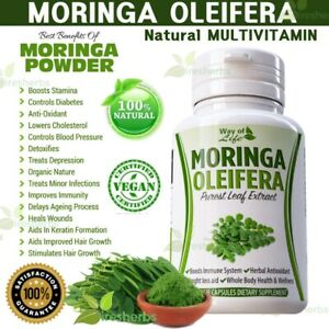 Moringa-Oleifera-Herbal-MultiVitamin-Stamina-Hair-Immunity-Detox-Supplement-60ct