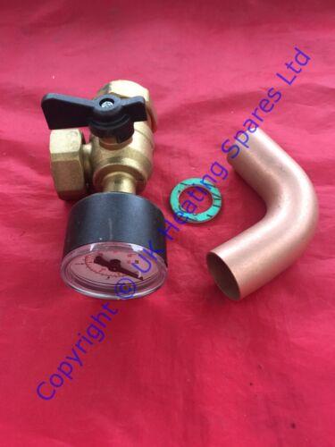 Ideal Logic E24 soucis /& E35 chaudière chauffage valve flux Pack avec jauge 175528