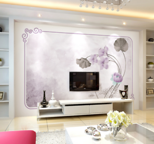 3D Swaying Lotus 742 Wall Paper Murals Wall Print Wall Wallpaper Mural AU Kyra