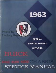 MANUAL 1963 PARTS ASSEMBLY BUICK SPECIAL SKYLARK RESTORATION BOOK