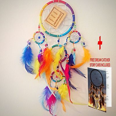 DREAM CATCHER GIRLS BOYS RAINBOW CHAKRA DREAMCATCHER HEART XMAS PARTY BAG FILLER