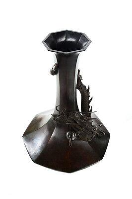 Japanese 19th century Bronze Dragon Vase - c1860