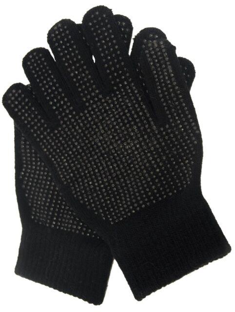 Childrens//Kids Winter Magic Gloves Black One Size