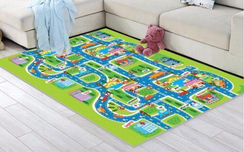 Playmat For Children Boy Kids Floor Carpet City Race Car Road Play Toy Track Rug