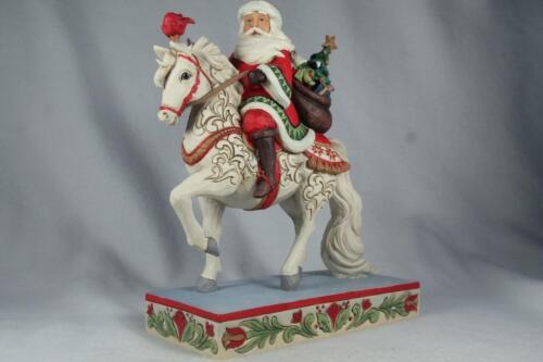Jim Shore /'Seasonal Steed/' 2020 Santa Riding White Horse #6006632 New In Box