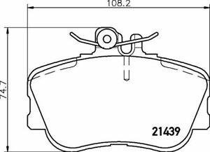 MDB1815 NEW MINTEX FRONT DISC BRAKE PADS SET