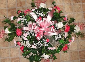 Cemetery-Silk-Memorial-Pillow-Grave-Blanket-Nationwide-Funeral-Sympathy-Flowers