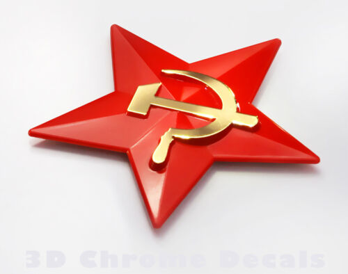 Soviet Union Symbol USSR Emblem Star Car Decal label