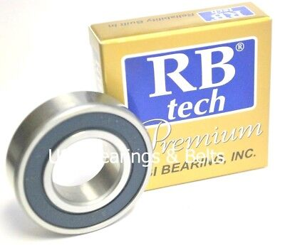 Qty 2 6200-2RS C3 Electric Motor Quality Premium Ball Bearing 10x30x9mm