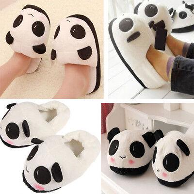 Cute Panda Women Lady Soft Warm Plush Antiskid Indoor Home Winter Cotton Slipper