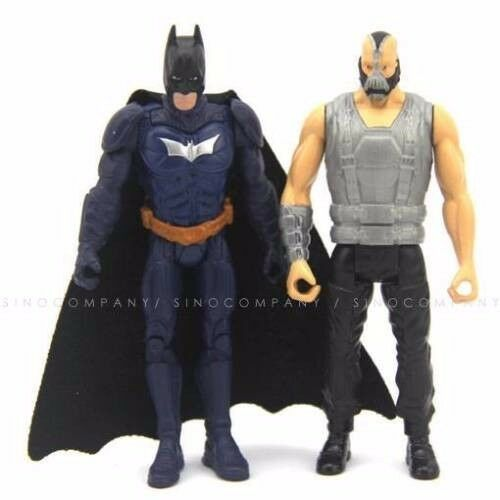 Lot 2 Toys DC Comics Batman /& bane 3.75/'/' Figure the dark knight rises blue Gift