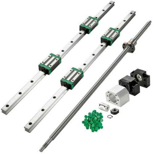 Linear Rail Set 2X HGR20 700mm 4 Blocks Ballscrew RM1605 BF//BK12 Nut Housing