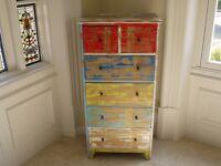 Vintage Cabinet 4+2 Drawers Retro Style Storage Chest Multicolour