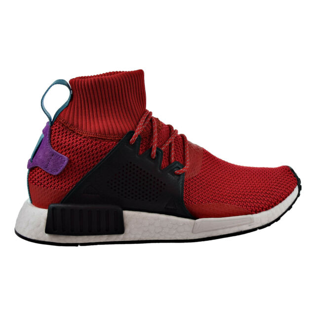 Buy adidas NMD Xr1 Winter Mens Bz0632 Red Black Boost Roller Knit ... 90542ec048a1