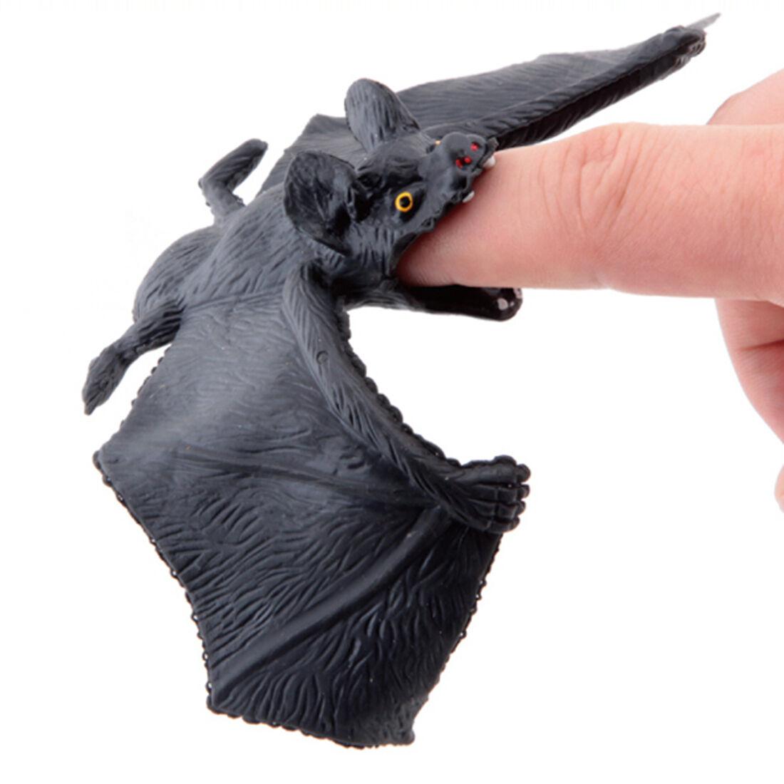 5Pcs Flexible Plastic Simulation Spiders Black Joke Prank Toy Halloween Gifts YF