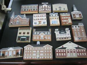 Lot-of-15-The-Cat-039-s-Meow-KENT-COUNTY-MARYLAND-House-Building-Figures-Joline-1990