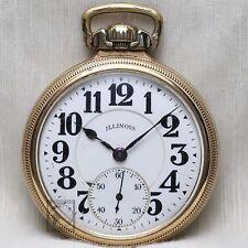 10k Gold 1923 Illinois Bunn Special 21 Jewel RAILROAD Grade Pocket Watch 16s USA