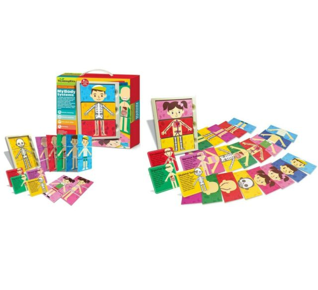 My Body Systems Activity Kit Puzzles Full Body Identification Boys & Girls
