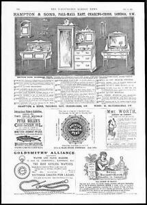 1885-ADVERTISEMENTS-Hampton-amp-Sons-Pall-Mall-Macniven-Cameron-Pens-258
