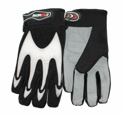 Coyote Full Finger Cycling MTB BMX Bike Mitts Gloves Grip Padded Black/White