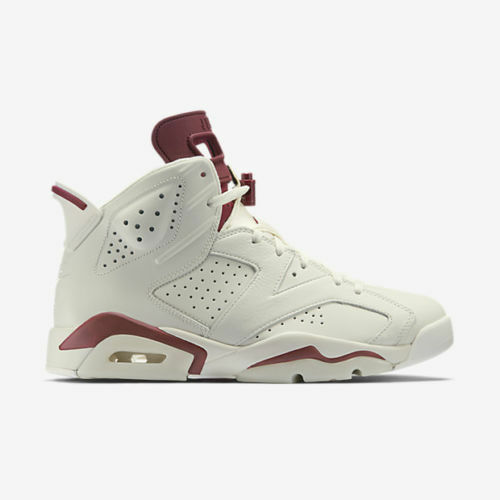 2015 Nike Air Jordan 6 VI Retro Maroon Size 13. 384664-116. Off-White.