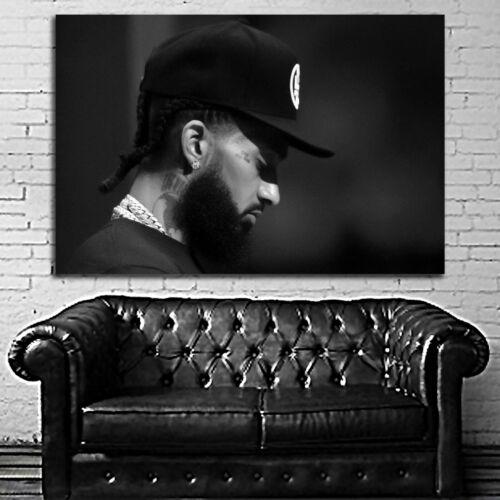#02BW Nipsey Hussle Rap Hip Hop Music Large Poster 40x60 27x40 24x36 20x30 18x24