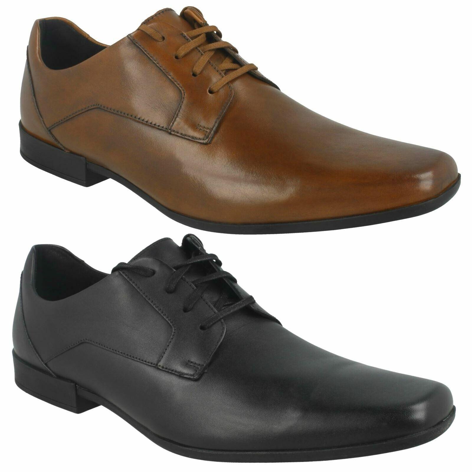 Glement Spitze Herren Clarks Schnürer Leder Elegante Office Änlässe Schuhe Größe