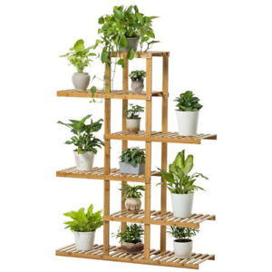 Premium-Pine-Wooden-Plant-Stand-Indoor-amp-Outdoor-Garden-Planter-Flower-Pot-Shelf