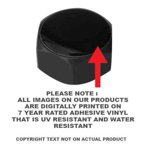 BALD EAGLE US ARMY H007 Black Billet Horn Cover Mounting Nut Kit For Harley