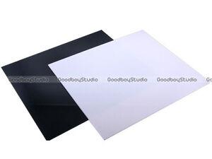 Black & White 30x30cm Photo Acrylic Reflection Mirror Board Display Platform