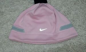 1887677a7ec Details about  18 Nike Girls SIZE 7-16 Pink   Gray Winter Hat WARM Beanie  Hat FLEECE LINING!