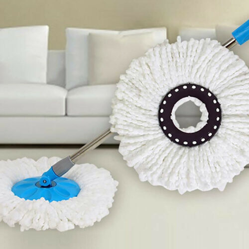 4 Microfiber Replacement Mop Head for Spin Mop 360° Rotating Spin Mop