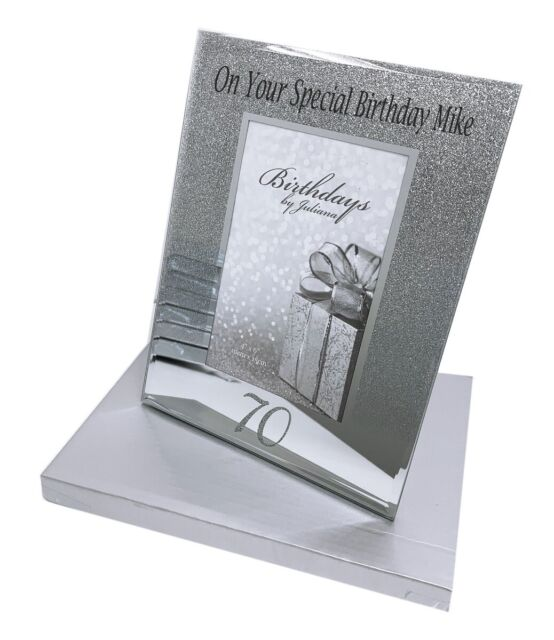 70th Birthday Gifts Personalised Frame Photo Picture Men Women 6x4 Age 70 Silver For Sale Online