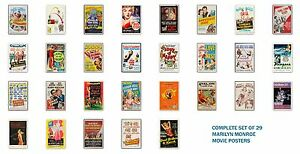 MARILYN-MONROE-COMPLETE-SET-OF-ALL-29-MOVIE-POSTERS-ALL-12X18-INCHES-IN-SIZE