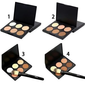 6 Colors Makeup Face Cream Contour Kit Concealer Palette Bronzer Highlighter Set