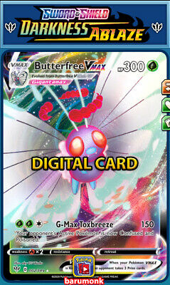 GIFT Butterfree VMAX 002 Darkness Ablaze Pokemon TCG Online Digital Card