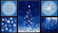 Precut Christmas Panel Robert Kaufman Radiant Holiday AINM15163-254 Frost w/Met.