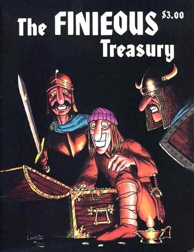 THE FINIEOUS TREASURY EXC+  TSR AD&D D&D Dragon Magazine Dungeons Dragons