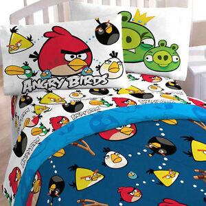 rovio angry birds kids bedding twin comforter n tote bag set new