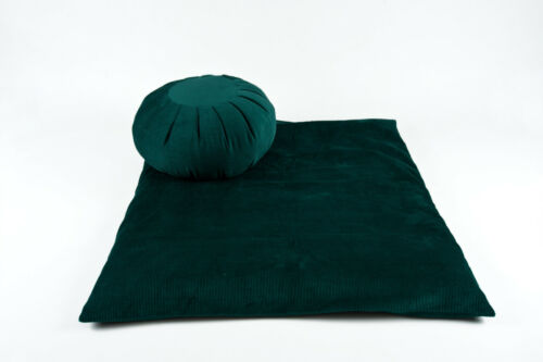 velours côtelé /> British Made! Zabuton /& Zafu coussin Meditation Set /> biologique sarrasin